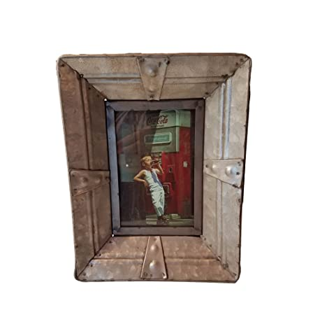 Amazon.com - Industrial Galvanized Tin Picture Frame -