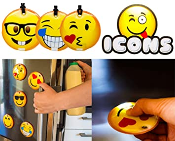 Novelty gifts housewarming gift icon face led torch fridge novelty gifts housewarming gift icon face led torch fridge magnet gift for adults negle Image collections