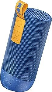 Zero Chill, Pairable Bluetooth Speaker 100 ft. Range, Waterproof, 22 Hour Playtime, Dust-Proof, Drop-Proof IP67 Rating Built-in Speakerphone, Aux-In Port, USB Charging JAM Audio Blue