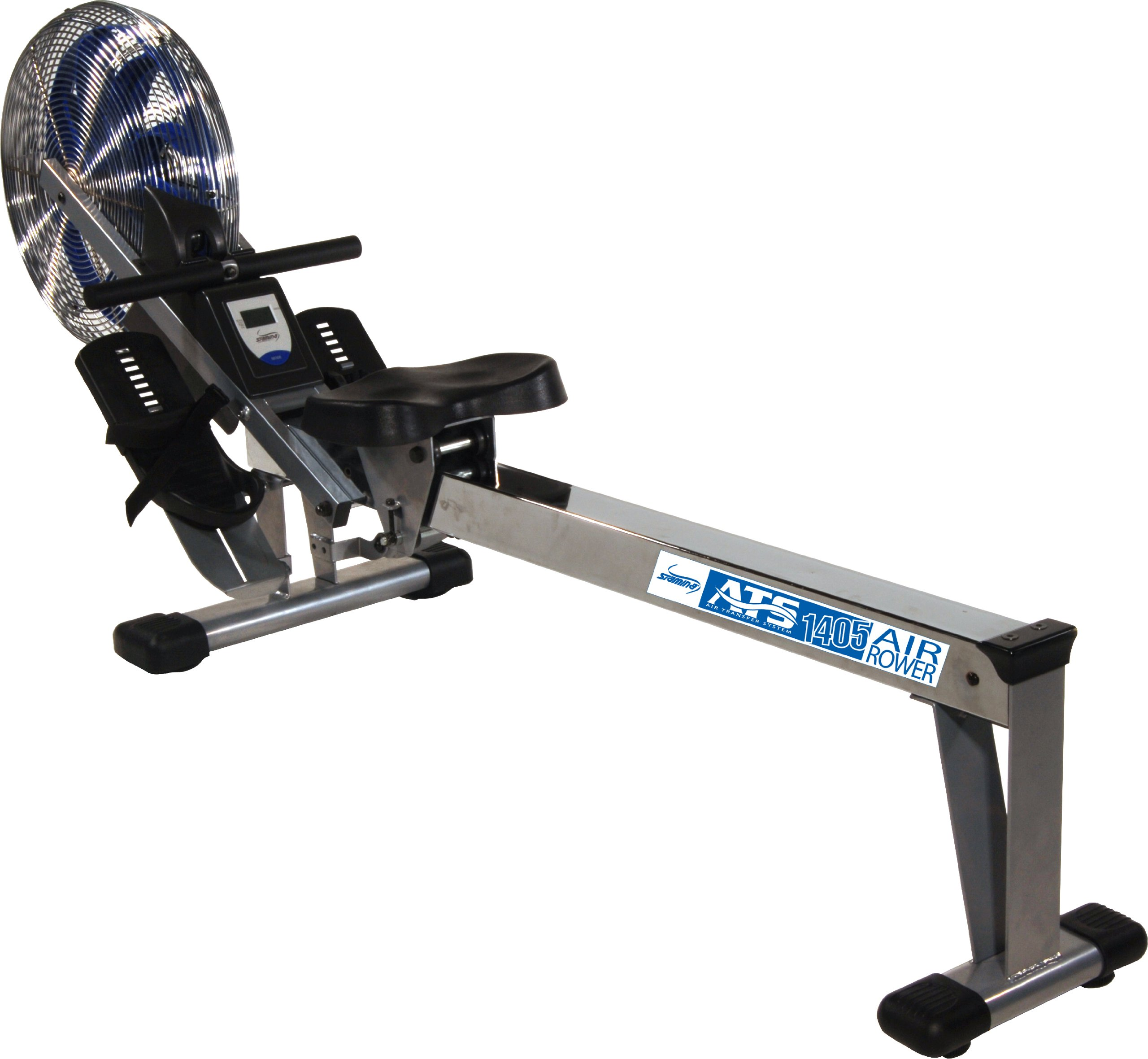 Stamina 35-1405 ATS Air Rower 1405 Rowing Machine, Air Resistance, LCD Fitness Monitor, Folding and Built-in Wheels, Chrome/Blue/Black by Stamina (Image #2)