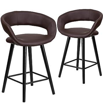 Amazoncom Flash Furniture 2 Pk Brynn Series 24 High