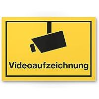 Cartel de grabación de vídeo (Amarillo, 30x 20cm)–Atención/Vorsicht