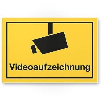 Cartel de grabación de vídeo (Amarillo, 30 x 20 cm ...
