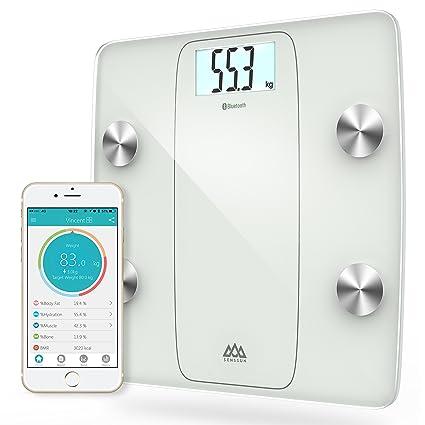 Senssun Báscula Digital Báscula Análisis Corporal, Bluetooth Báscula Compatible con Android e iOS, Báscula