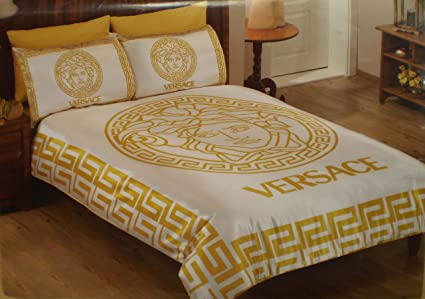 Biancheria Da Letto Versace.Buy New Satin Bedding Set Versace With Dhl Express Shipping Queen And Full Sizes Available Online At Low Prices In India Amazon In