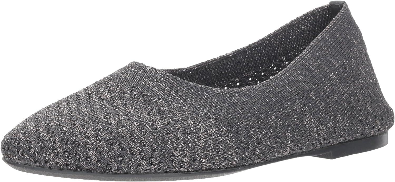 Skechers Women's Cleo-Star Daze-Metallic Austin store Mall Knit Engineered Skimmer
