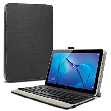 buy online 2bb6d 8bb96 Infiland Case for Huawei MediaPad T3 10, Ultra Slim Cover with Wireless  Bluetooth Detachable Keyboard compatible with Huawei MediaPad T3 10 (9.6  inch) ...