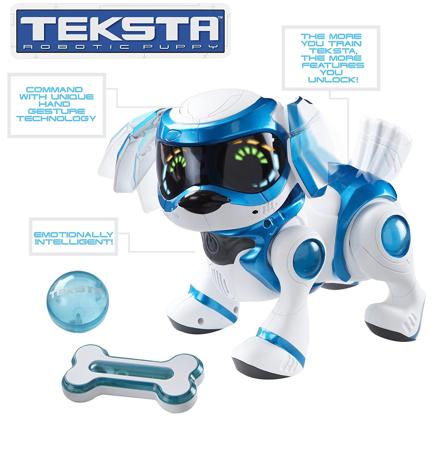 Teksta Robotic Puppy Blue by Bit 360