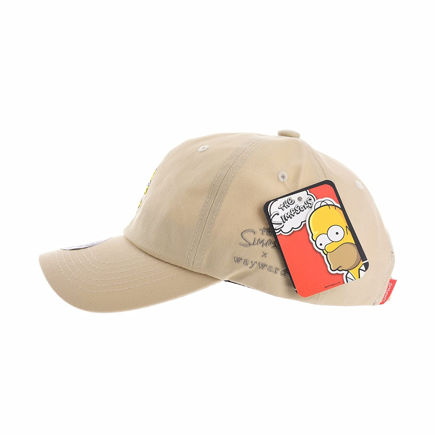 e6055def530 WITHMOONS The Simpsons Baseball Cap Crossed Bart Simpson Hat HL1867 (Beige)   Amazon.co.uk  Clothing