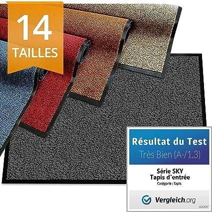 Etm Tapis D Entree Serie Premium Tapis Antiderapant Absorbant Lavable Paillasson Entree Exterieur Interieur Anthracite 60x90cm