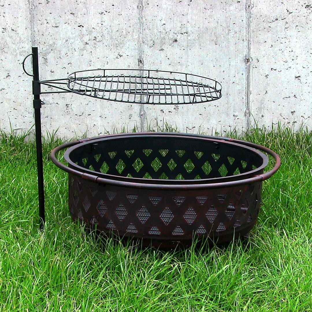 Amazon.com : Sunnydaze Height Adjustable Fire Pit Cooking Grate, 24 Inch  Diameter : Garden U0026 Outdoor