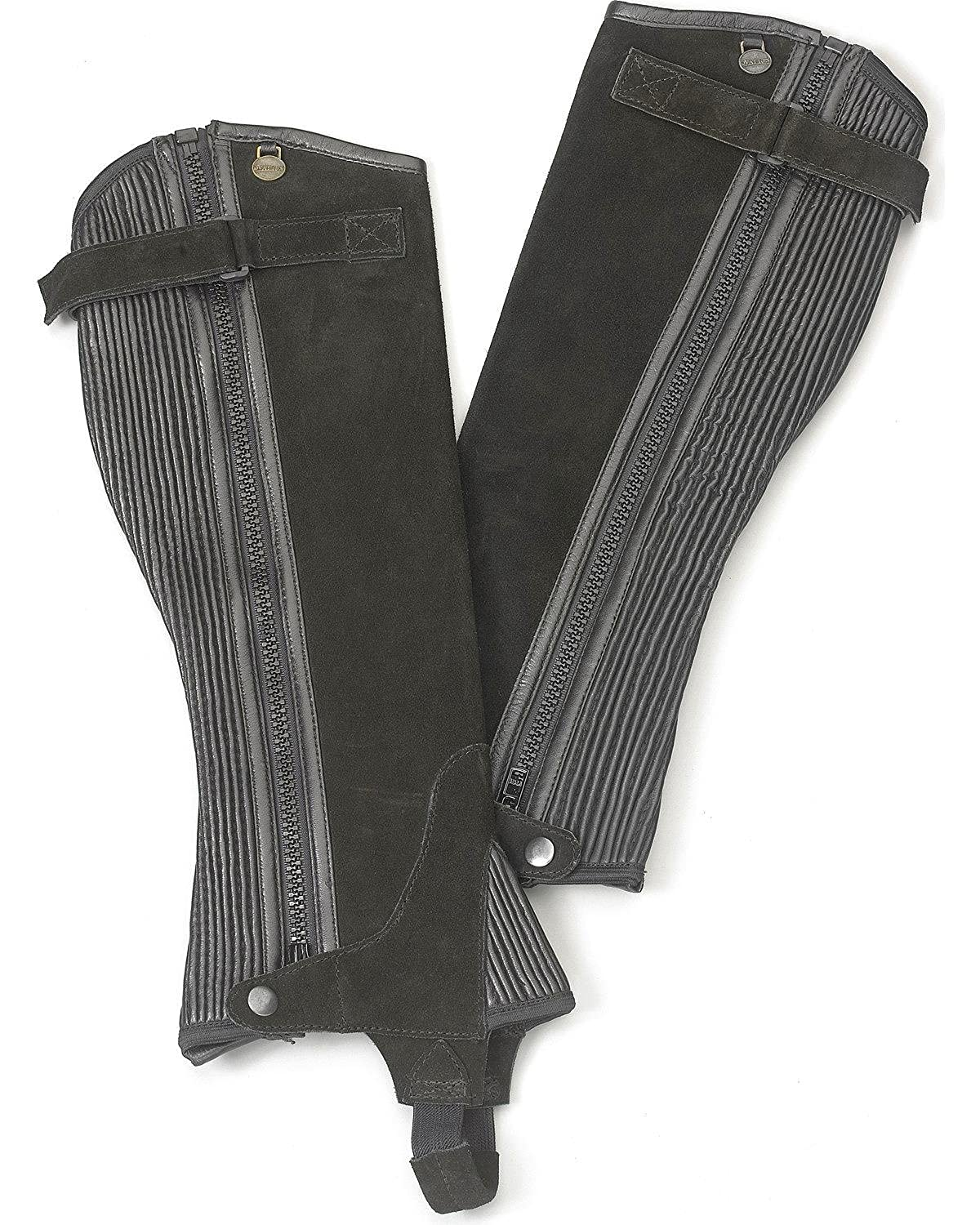 Ovation Women's Ribbed Suede Half Chaps - 464334-Blk
