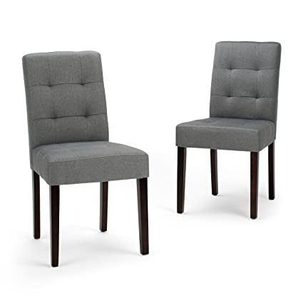 Bon Amazon.com   Simpli Home AXCDCHR 004 GL Andover Contemporary Dining Chair  (Set Of 2) In Denim Grey Linen Look Fabric   Chairs