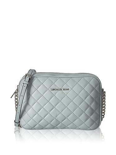 2077d5d59aec MICHAEL MICHAEL KORS Jet Set Travel Large Quilted Leather Crossbody   Handbags  Amazon.com