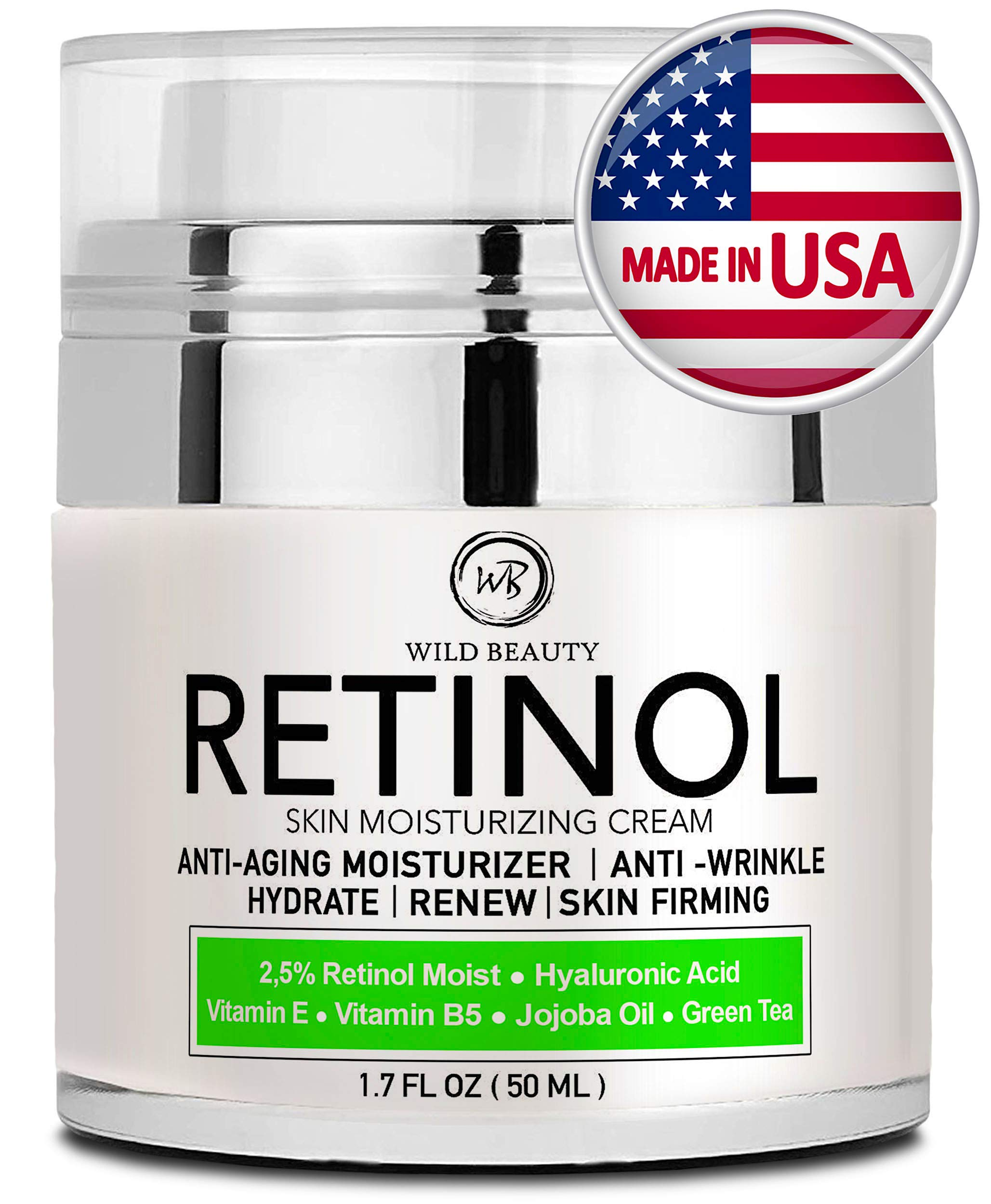 Best Eye Cream 2020.New 2020 Retinol Moisturizer Cream For Face And Eye Area Made In Usa With Hyaluronic Acid Active Retinol 2 5 Anti Aging Face Cream To Reduce