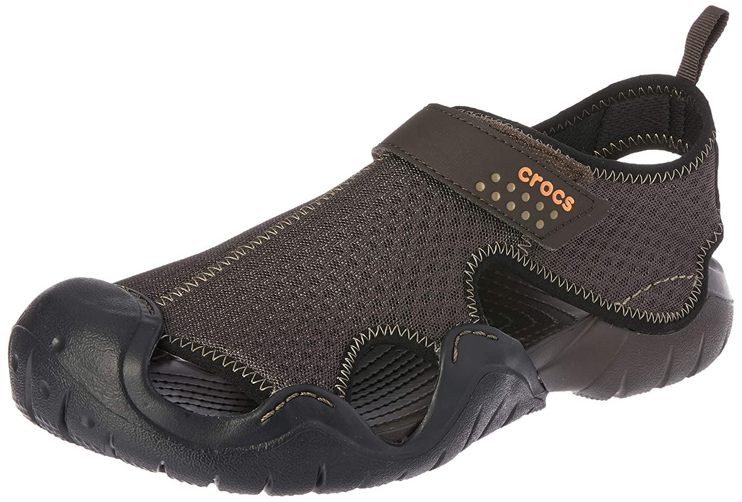 3720a666a7a12 crocs Men s Swiftwater Sandal M and Espresso M8 (15041-22Z)  Buy Online at  Low Prices in India - Amazon.in