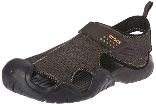 05179b89024723 crocs Men s Swiftwater Sandal M and Espresso M8 (15041-22Z)  Buy ...