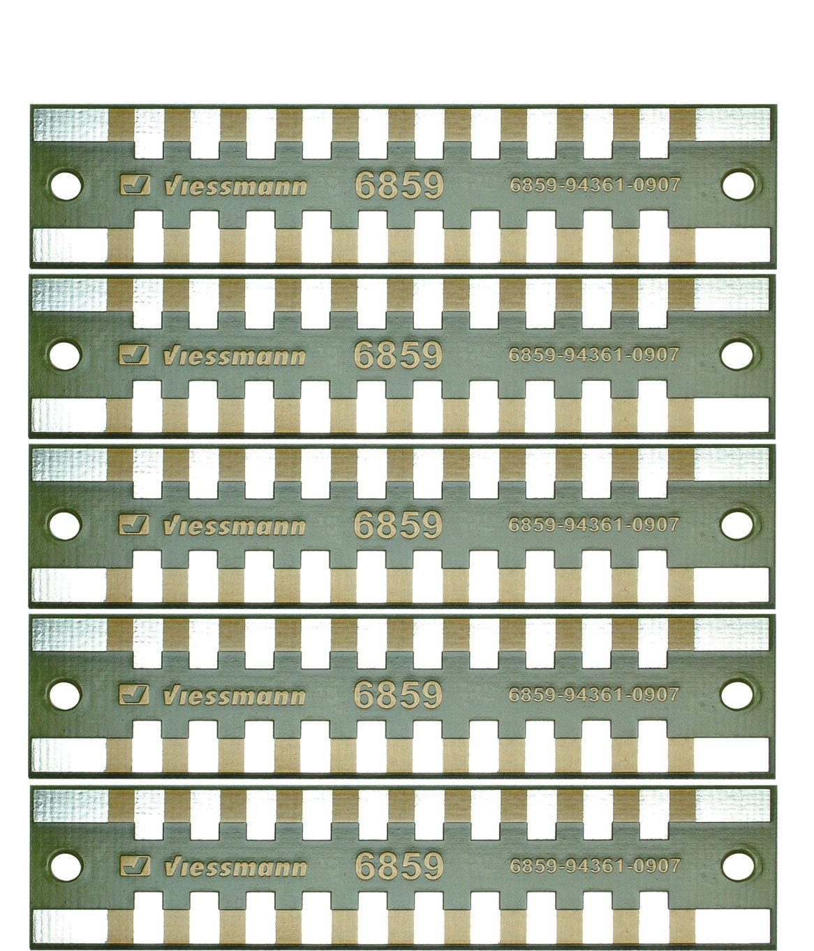 Viessmann 6859 - Löt-Verteilerleisten 2-polig, 5 Stück