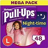 Huggies Pull-Ups Night Time Potty Training Pants for Girls, Large, 48 Pants