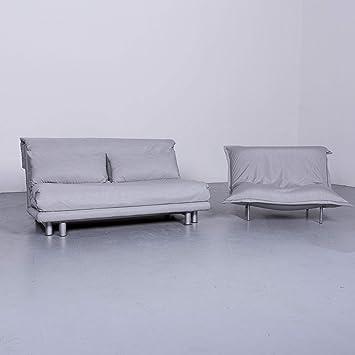 Ligne Roset Multy Designer Stoff Sofa Sessel Garnitur Grau