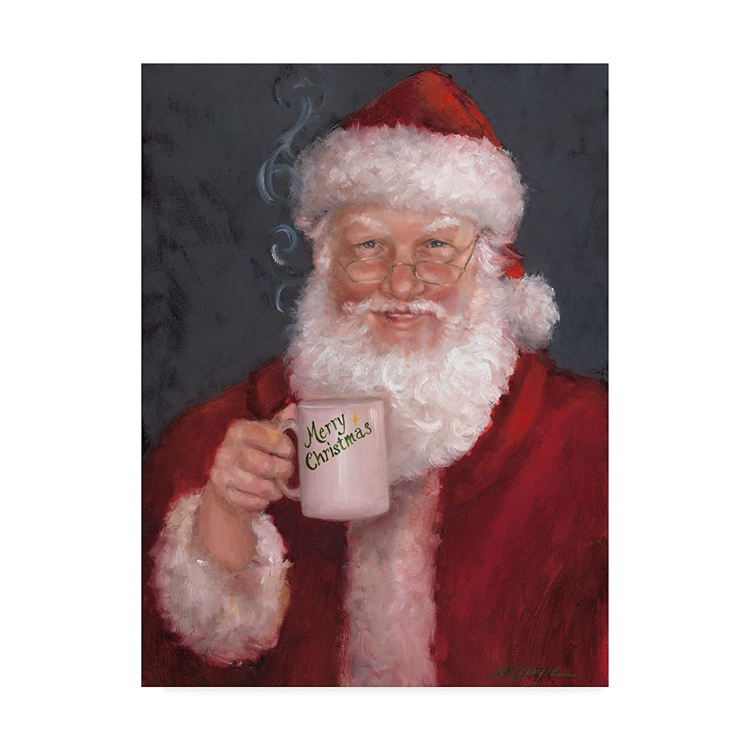 Santa with a Mug by Mary Miller Veazie、35 x 47-inch B07B8ZKSDK