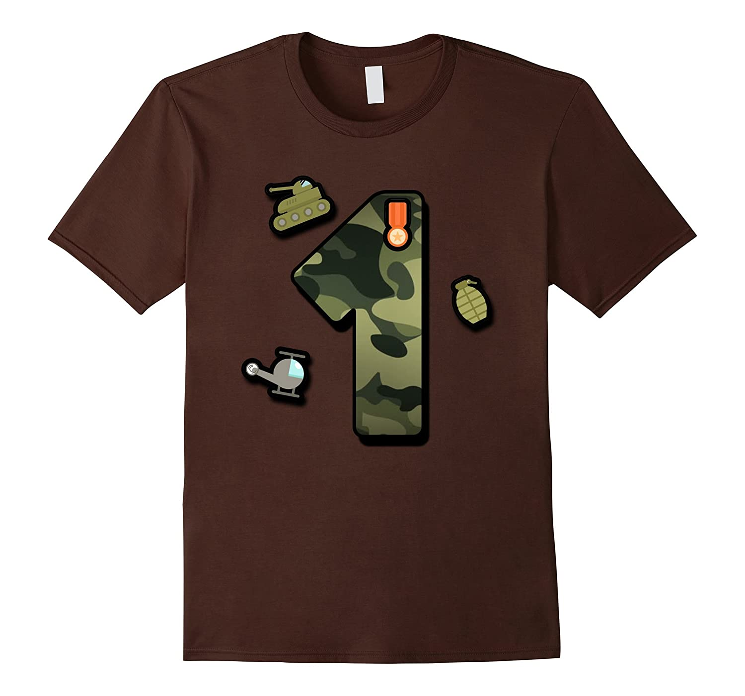 First Birthday Party 1th Camoflauge T Shirt Born 2016