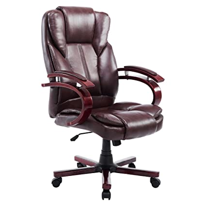 amazon com acepro office chair executive pu leather high back