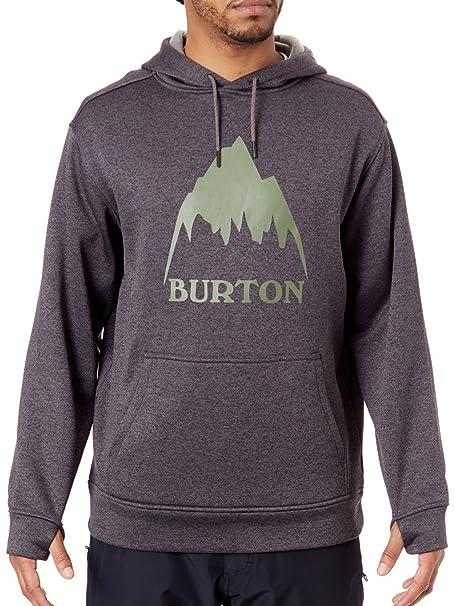 Burton Sudadera con Capucha De Snowboard Oak True Negro Heather (L, Negro)