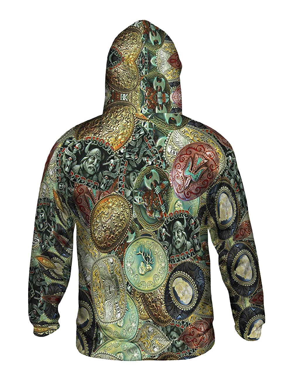 Allover Print Yizzam Cowboy Belt Buckle Pride Mens Hoodie Sweater