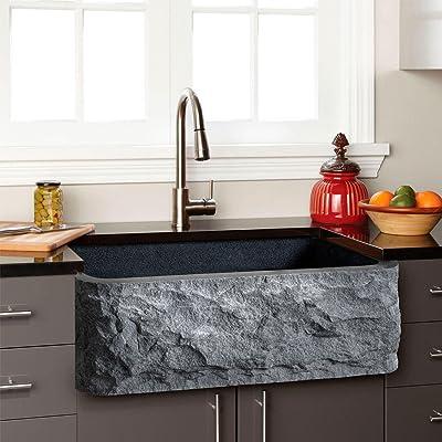 "Signature Hardware 908281-33 33"" Single Basin Granite Farmhouse Sink"