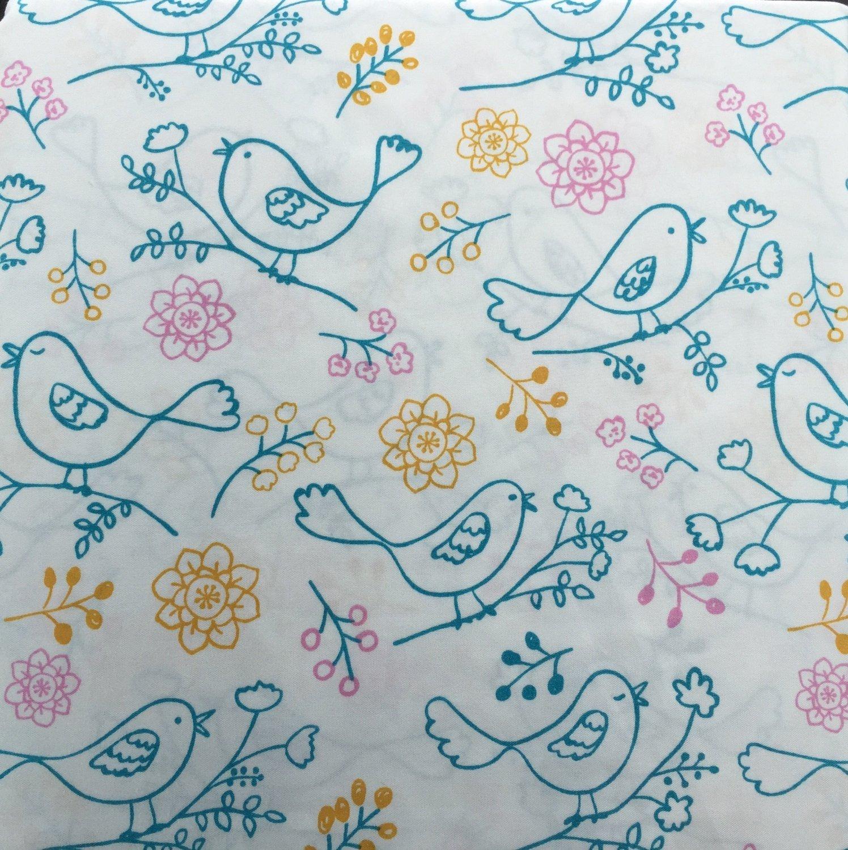 Harper 3 Piece Polyester Sheet Set, Bird Drawing (Twin)