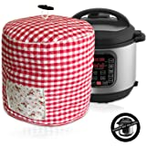 Pressure Cooker Cover - Custom Made Accessories - Fits 6 QT Instant Pot Models (Red and White Gingham)