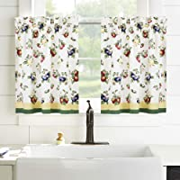 """Villeroy and Boch French Garden Window Kitche, Cotton, Multicolor, 30"""" x 24"""" (Set of 2 Tiers)"""