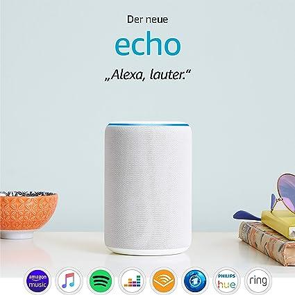 Amazon Echo 3 Generation Zertifiziert Und Generalüberholt Smarter Lautsprecher Mit Alexa Sandstein Stoff Alle Produkte