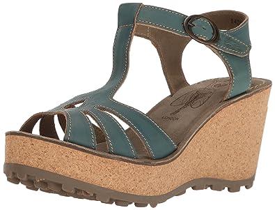 8576b1a3 Amazon.com | FLY London Women's Gold Ankle-Strap Sandal | Sandals
