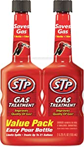 STP Gas Treatment, Fuel Intake System Cleaner, Bottles, 5.25 Fl Oz, Pack of 2, 78578