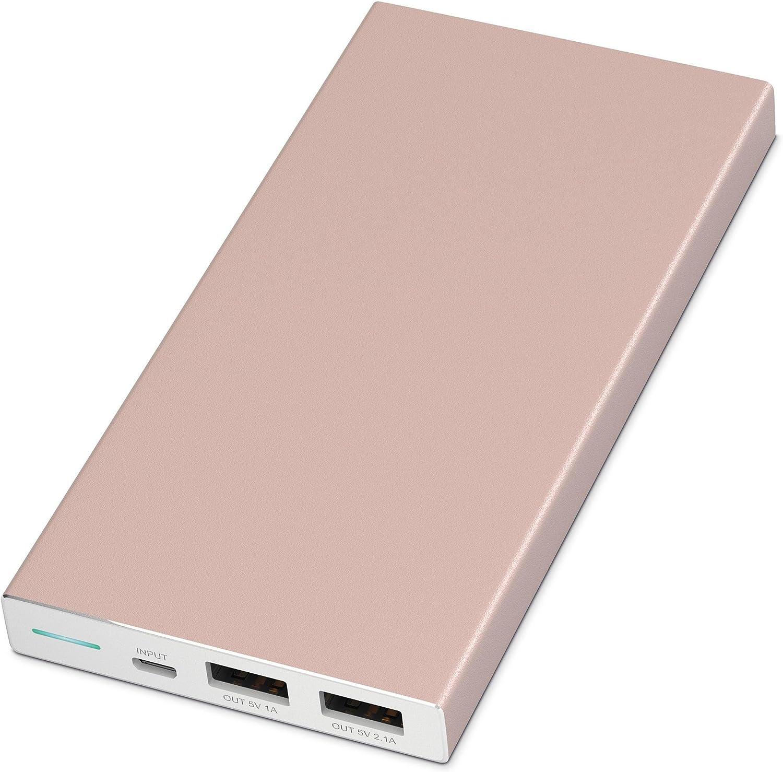 Rose Gold Aluminium Portable Charger
