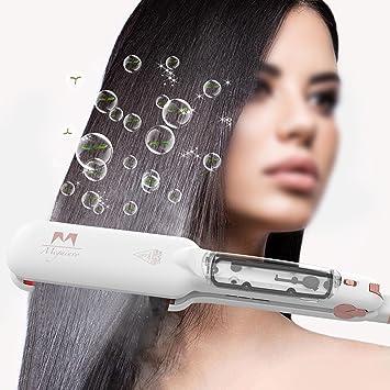 Lisseur de Cheveux Multi fonctionnel, Megainvo Salon Fer à Lisser à Vapeur Infrarouge Steampod 2'' Tourmaline Plaque en Céramique Fer à Friser Lisseur