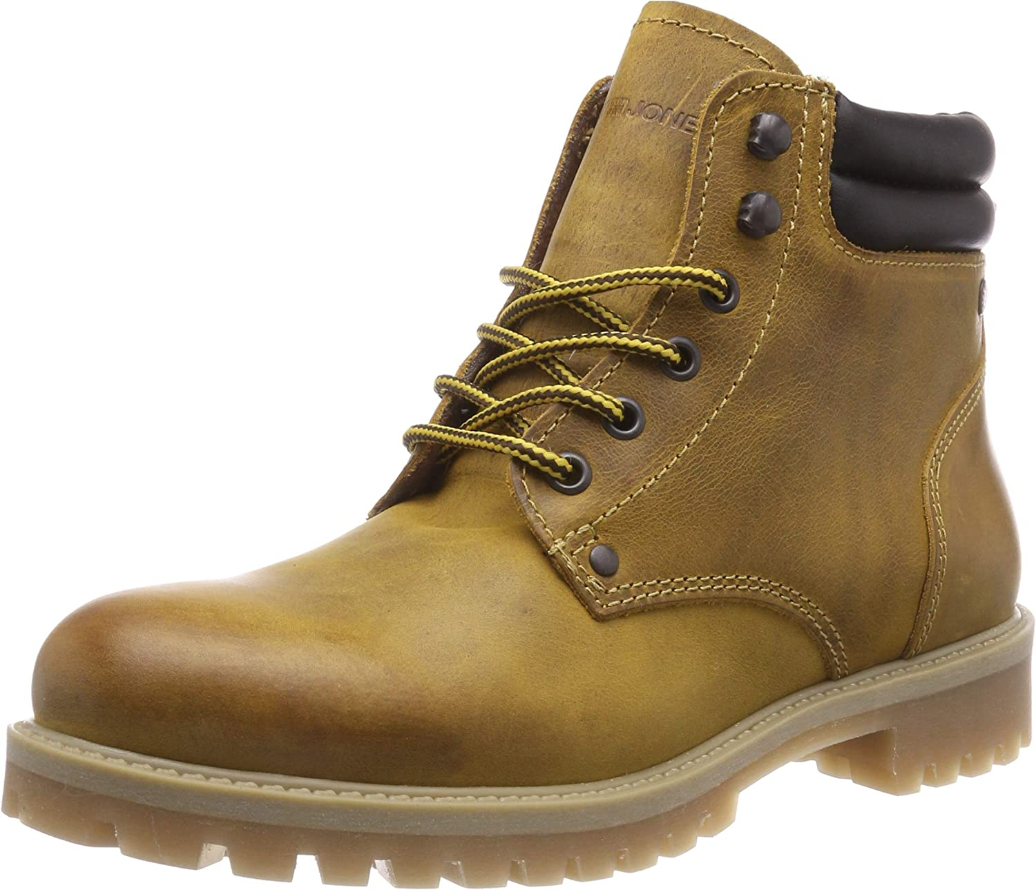 Jack & Jones Jfwstoke Leather Boot Honey, Botas Estilo Motero para Hombre