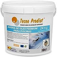 Tecno Prodist Arena de Silex Arena Premium para Piscinas - En Cubo de 24 Kg (Granulometría 0,4 a 0,8 mm) Ideal para el…