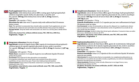 recensioni per l estratto di fagiolo bianco