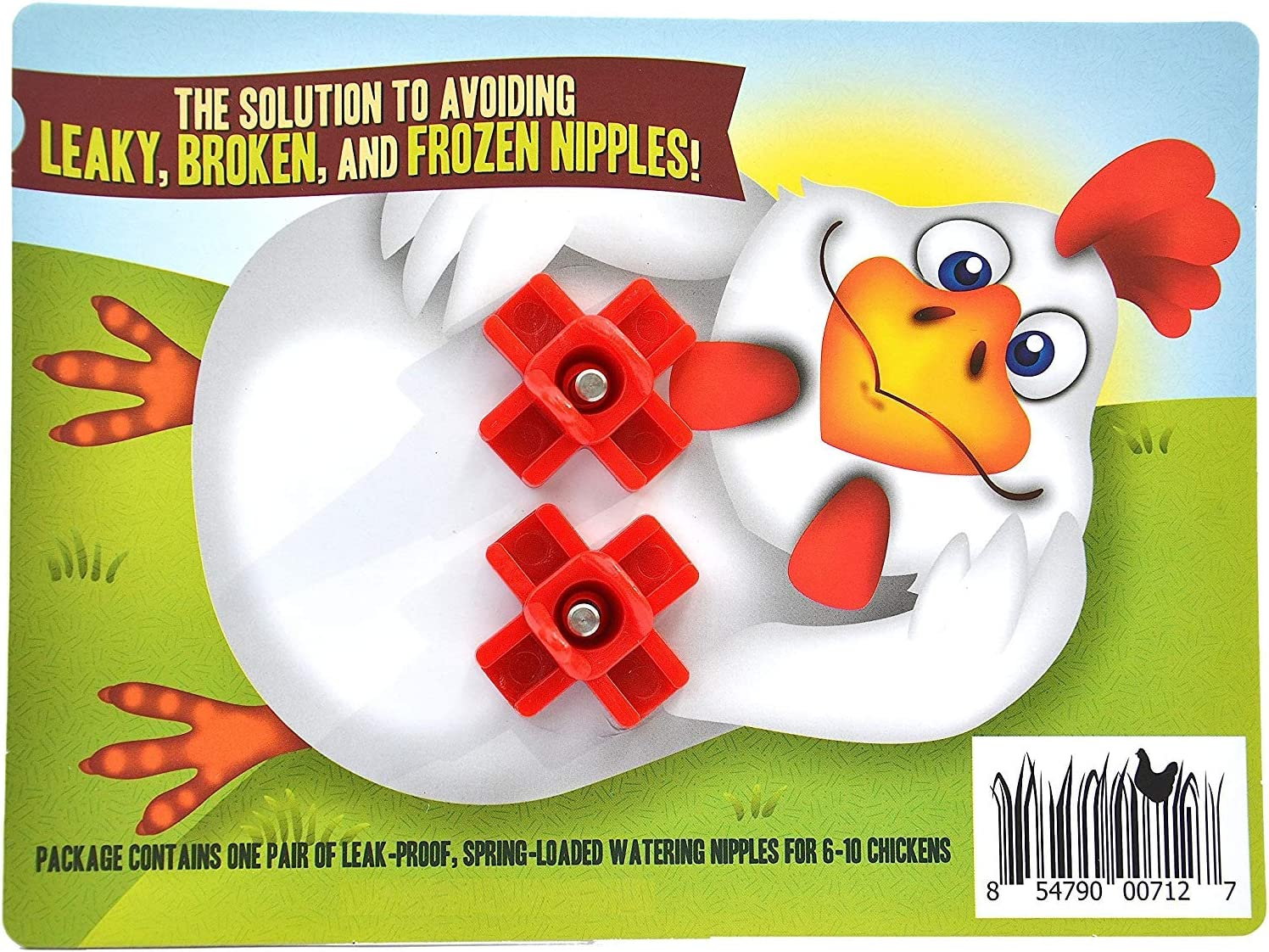 Mink Geese 35 MAIN GIFTS 5 Pack Side Mount Horizontal Poultry Watering Nipples by Rooster Nipples-Chickens Rabbit /& Ferrets Turkey /& Quail