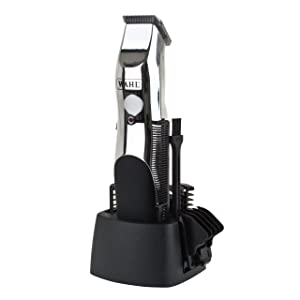 Wahl 9916-1117 Groomsman Rechargeable Hair, Beard and Moustache Trimmer Set - Black/Silver