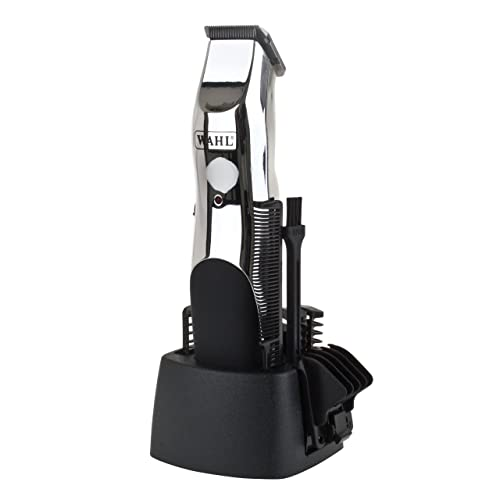 Wahl 9916-1117 Groomsman Rechargeable Hair, Beard and Moustache Trimmer Set, Black/Silver