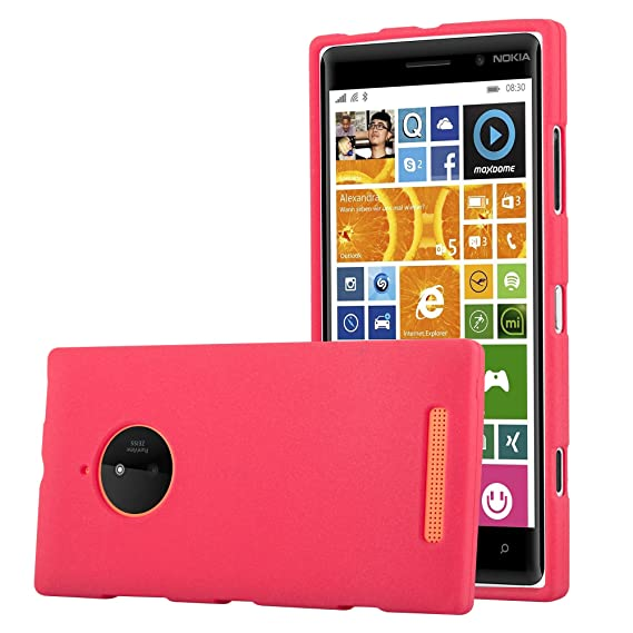 buy online 74d7c e9d8c Amazon.com: Cadorabo Case Works with Nokia Lumia 830 in Frost RED ...