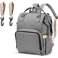 PPW Upgraded Mommy Large Capacity Diaper Bag Backpack (Upgraded Gray)
