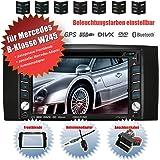 Autoradio 2DIN creatone 336dg en V pour Mercedes Classe B W245(05/2006–06/2011avec système audio 5et 20) avec GPS Navigation (Europe), Bluetooth, écran tactile, lecteur DVD et fonction USB/SD
