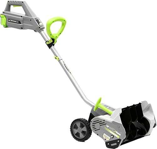 Earthwise SN74016 40-Volt Cordless Electric Snow Shovel, Brushless Motor, 16-Inch width, 300lbs Minute Battery and Charger Included