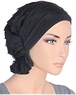 2c471019fe0 Turban Plus The Abbey Cap in Ruffle Fabric Chemo Caps Cancer Hats for Women