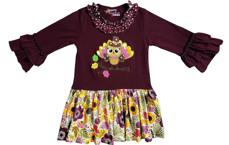 277432456b7d Amazon.com  Boutique Clothing Girls Fall Thanksgiving Turkey Dress ...